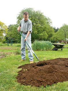 Goodbye grass, hello garden. The easiest way to convert lawn into garden by Organic Gardening. Start the process in the fall so garden spot will be ready in the Spring. No need to dig up grass!