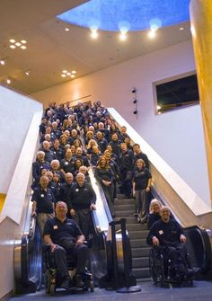 Staff picture... No playing on the escalator :)