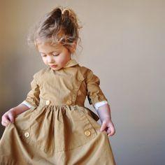 1950's butterscotch dress