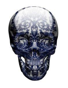 pottery skull skulls, magnus gjoen, digital art, bone china, artist, porcelain skull, design blogs, skull art, angels