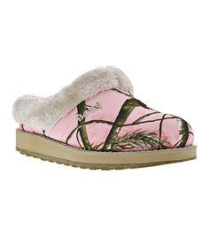 Look at this #zulilyfind! Pink Keepsakes Snow Angels Slipper by BOBS from Skechers #zulilyfinds
