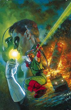 Silver Age Green Lantern and Green Arrow (from Legends of the DC Universe #7) by Hugh Fleming