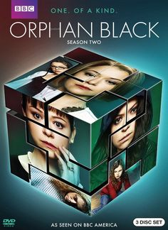 ORPHAN BLACK SEASONS 1 & 2.  Sarah is on the run from a bad relationship when a lookalike stranger commits suicide right in front of her. Sarah sees a solution to all her problems by assuming the dead woman's identity and clearing out her bank account. Instead, she stumbles into a thrilling mystery and uncovers an earth-shattering secret: she is a clone.  http://highlandpark.bibliocommons.com/search?utf8=%E2%9C%93&t=smart&search_category=keyword&q=MASLANY+ORPHAN&commit=Search