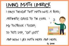 Math Poetry Lessons for Homeschool: When you think of poetry, math may be the last association you make. But mathematics can be enjoyed in the form of rhymes, riddles, and poems. Math poetry has something for everyone -- the math lover as well as the poetry lover and everyone in between.