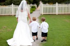 Precious picture that I can have with my two ring bearers.