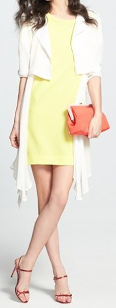 lovely #yellow shirtdress  http://rstyle.me/n/i6un9pdpe