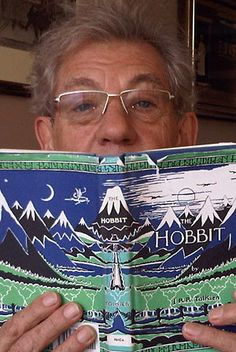 Apparently when Martin Freeman's family visited him in New Zealand during the filming of The Hobbit, Sir Ian would babysit so they could have an evening out. Imagine him reading The Hobbit to them in his Gandalf voice!