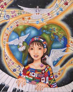 """Celebrate Peace"" 2006-2007 Grand Prize Winner by 13-year-old Min-Ji Yi of California, USA"