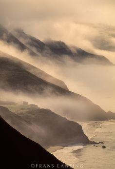 Coastline with morning clouds, Big Sur, California