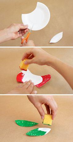 classroom, fall, art, plate appl, craft tutorials, apples, appl craft, apple crafts, paper plates