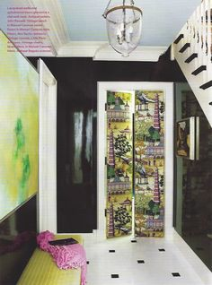Love this glam foyer. ruthie sommers entryway