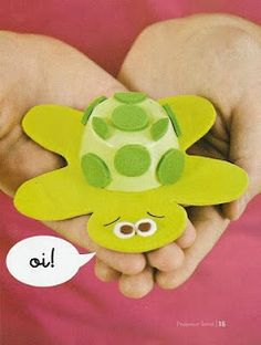 Não vai deixar a tartaruga fugir hein!!!