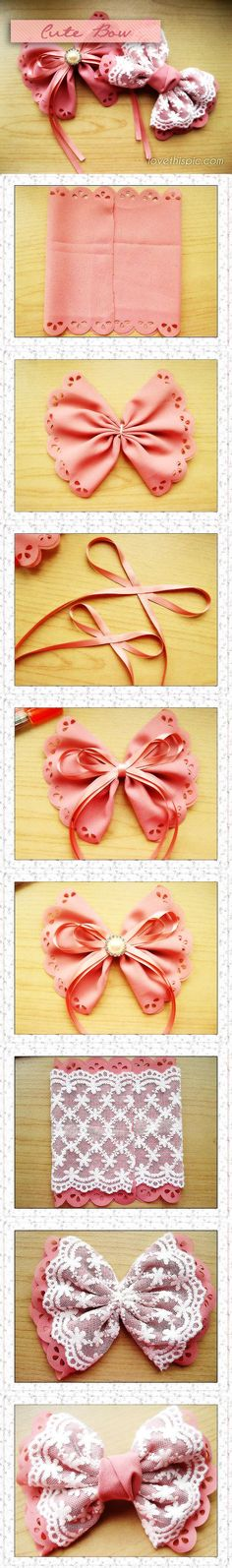 DIY Cute Bow cute bow bows diy girlie crafts easy craft diy easy diy crafts diy craft, easy diy easy crafts diy diy fashion ideas craft ideas  fun diy