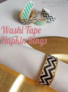 Washi Tape Napkin Rings | Love, Pomegranate House