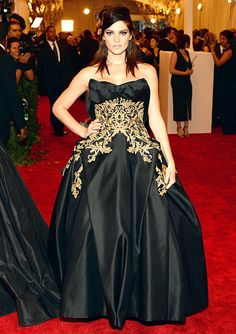 Ashley Greene on the red carpet of the Met Gala