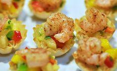 Shrimp Mango Salsa Phyllo Cups