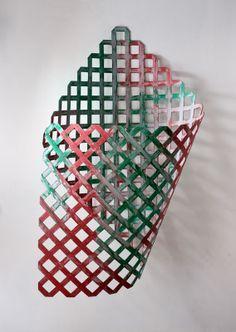 Daniel Dezeuze Flag 2001 Mixed media, oil based paint on polyethylene