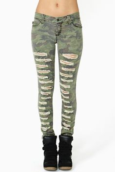 Battle Field Skinny Jeans by #TrippNYC #ripped #jeans #nyc #sexy #cool #bandmark