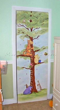 Baby room themes on pinterest 115 pins for Classic winnie the pooh wall mural