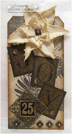 Joy christma tag, junki style, challenges, 12 tag, christmas, card, gift tags, funki junki, beauti tag