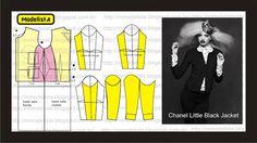 Modelagem de casaco Chanel Little Black Jacket. ModelistA: Little Black Jacket