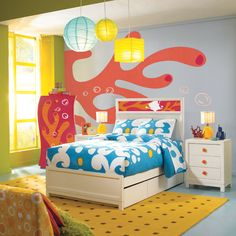 """""""Under the Sea"""" kid's room!  This is perfect for bubba!!"""