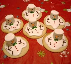 snowman melting cookies :)