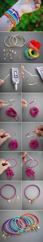 Wrap bangles | DIY Stuff