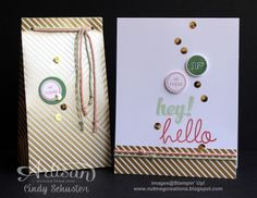 Hi There! card and gift bag by Nutmeg Creation Cindy Schuster