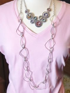 Premier Designs 'Chiffon' framed with 'Silver Splash' for a great Spring look. http://www.facebook.com/carolyn.l.popp#!/CarolynPoppPremierDesignsJewelry?fref=ts