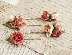 Rose Embellished Hair Pins