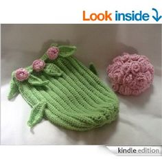 Long Stem Roses Cocoon and Hat crochet pattern