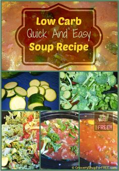 Low Carb, Slow Cooker Soup Recipe!# slow cooker healthy recipes