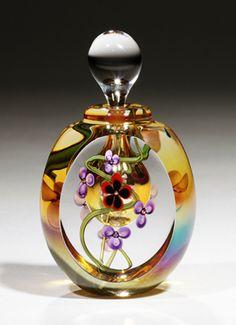 * Hand Blown Art Glass by Roger Gandelman * glass art, roger gandelman, glass perfum, glasses, art glass, perfum bottl, perfume, beauti, bottles