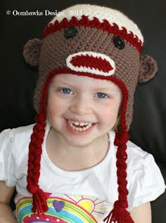 Free sock monkey beanie pattern