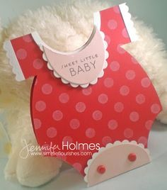 adorable red onesie card...luv the cute details in the design...