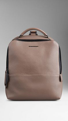 Grainy Leather Backpack | Burberry