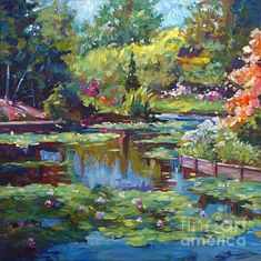 Serenity Pond by David Lloyd Glover - Serenity Pond Painting - Serenity Pond Fine Art Prints and Posters for Sale