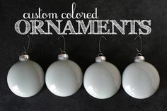 Custom Colored Ornaments by @eighteen25 #JustAddMichaels