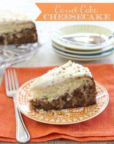 Carrot Cake Cheesecake . . . need I say more!