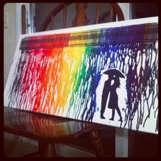 Melted crayon art.