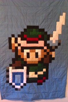 Link from Zelda lap quilt