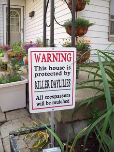 Sign for daylily garden lol