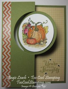 Best of Autumn, Best of Greetings, Circle Card Thinlit #pumpkins #harvest #fall #autumn #stampinup #toocoolstamping  Learn how: www.TooCoolStamping.com