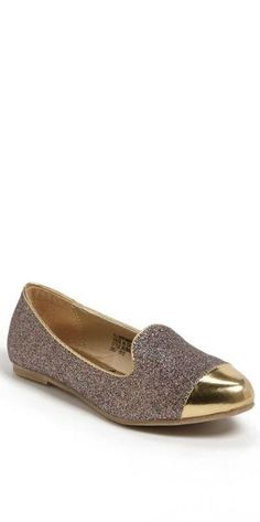 Glitter flats for your little princess.