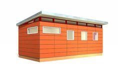 Workshop shed on pinterest modern shed backyard office for Prefab work shed