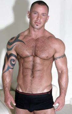 Hot ink. hairy muscle