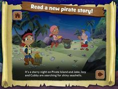 Discount: Jake's Never Land Shapes and Patterns by Disney (Old Price: 1.99$, New Price: 0.99$) - an interactive storybook with 3 educational mini-games. http://www.appysmarts.com/application/jake-s-never-land-shapes-and-patterns,id_70656.php