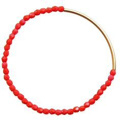 coral & gold bar bracelet #etsy #jewelry #handmade #homemade #spring #summer #fashion #chic