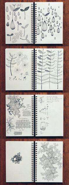 art illustrations, doodles drawings, zentangle art journaling, art inspiration, sketchbook doodles